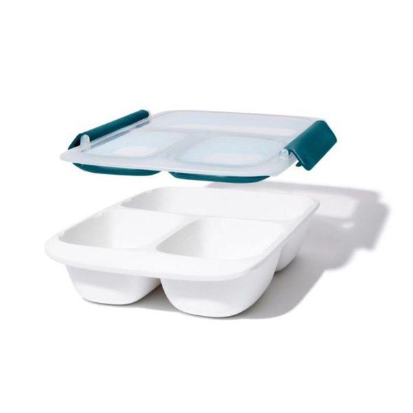 Lunchbox 'Prep & Go' 3-vaks, 970 ml