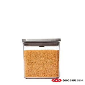 OXO RVS POP Container SteeL Groot Vierkant Laag 2,6 liter