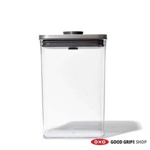 OXO RVS POP Container SteeL Rechthoek Medium 2,6 liter