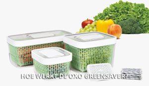 Hoe werkt de OXO GreenSaver?