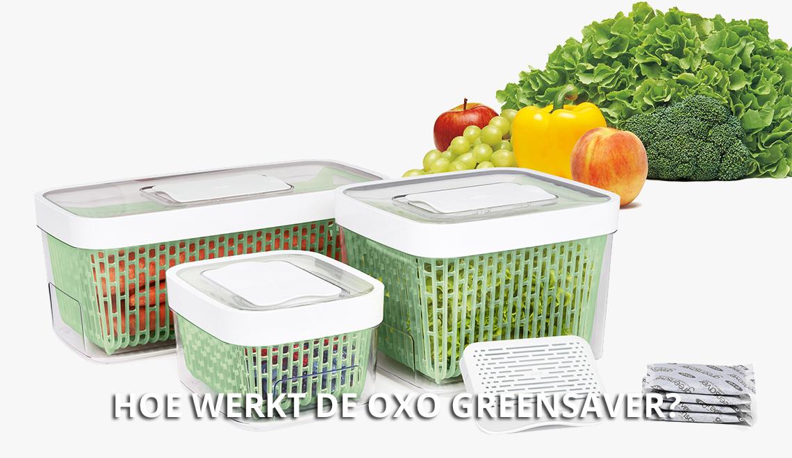 Hoe werkt OXO GreenSaver?