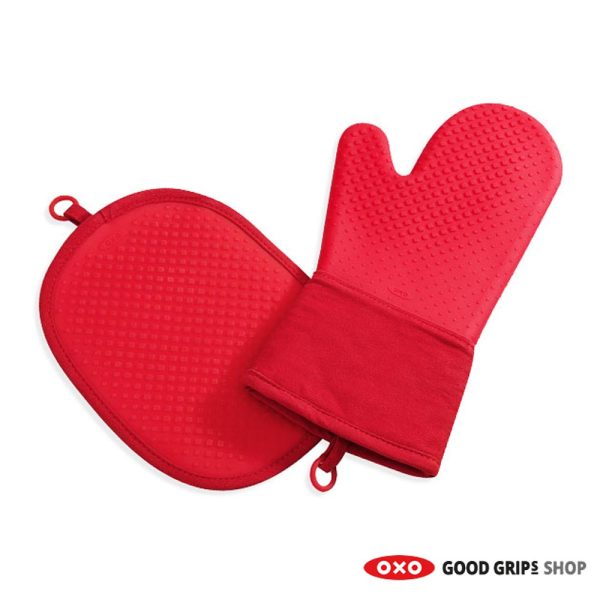 oxo-ovenwant-pannenlap-set-rood