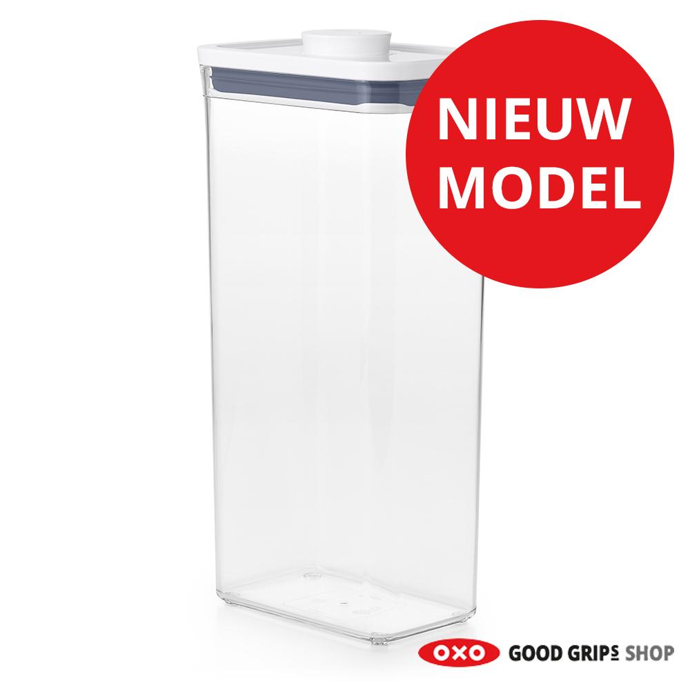 Voorraadbus 3 Liter.Oxo Pop Container 2 0 Rechthoek Hoog 3 5 Liter