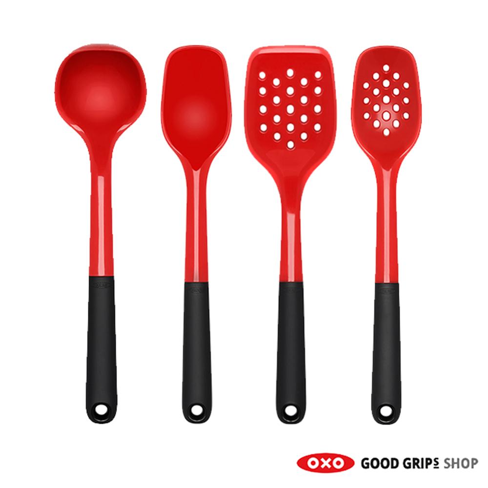 Oxo rood siliconen keukengerei