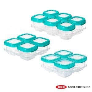 set babyvoeding bewaarbakjes groen 6x60, 4x120 en 4x180 ml