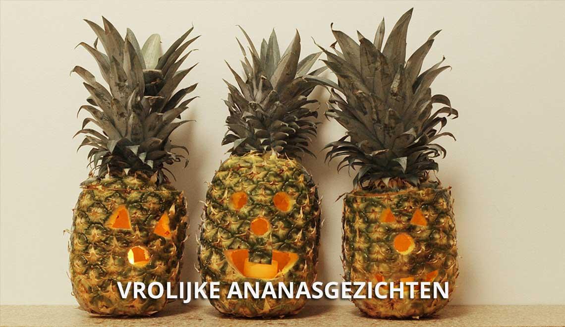 Een Halloween Ananasgezicht