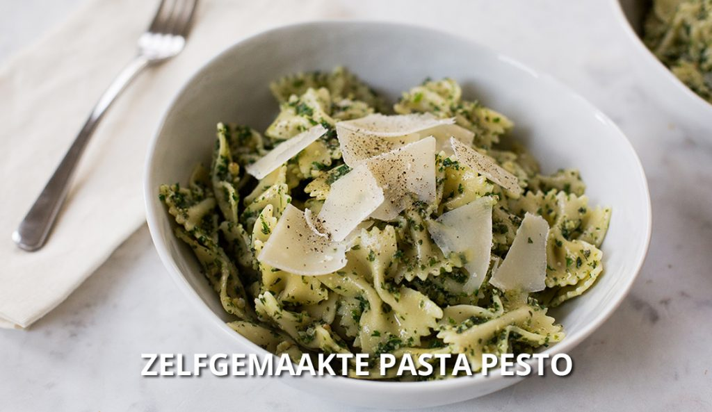 zelfgemaakte-pasta-pesto